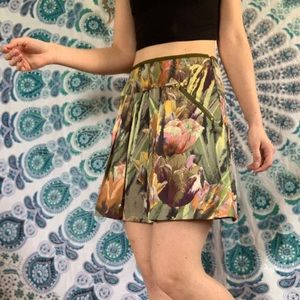Ted Baker Green Tulip Mini Skirt with pockets